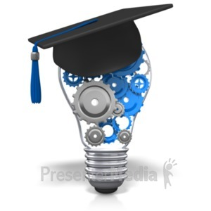 ID# 21999 - Lightbulb Gears Education - Presentation Clipart