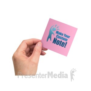 ID# 22019 - Hand Office Note - Presentation Clipart