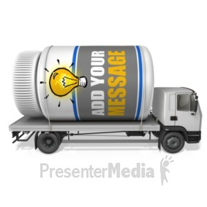 ID# 22054 - Pill Bottle Delivery Transport - Presentation Clipart