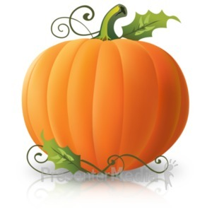 ID# 22098 - Simple Plain Pumpkin - Presentation Clipart