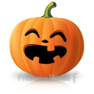 ID# 22099 - Simple Laughing Pumpkin - Presentation Clipart