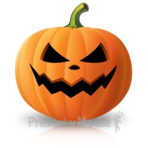 ID# 22100 - Simple Scary Pumpkin - Presentation Clipart