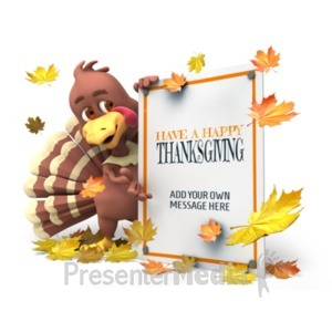ID# 22157 - Autumn Turkey Sign - Presentation Clipart