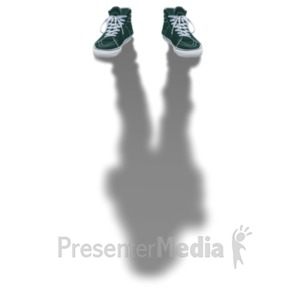 ID# 22201 - In The Shadow - Presentation Clipart