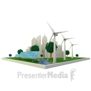 ID# 22214 - Renewable Energy City - Presentation Clipart