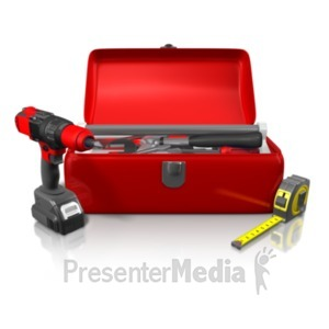 ID# 22223 - Large Toolkit - Presentation Clipart