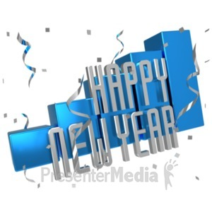 ID# 22257 - New Year Sales Graph - Presentation Clipart