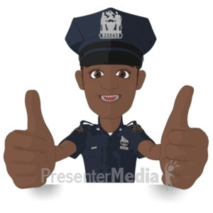 ID# 22269 - Policeman Thumbs Up - Presentation Clipart