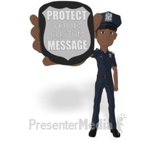 ID# 22270 - Police Flat Show Badge - Presentation Clipart