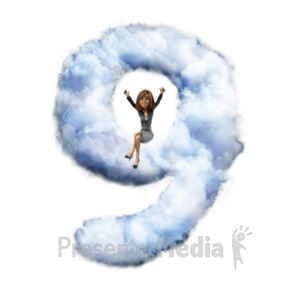 ID# 22280 - Talia Sitting On Cloud Nine - Presentation Clipart