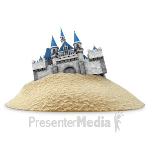 ID# 22299 - Castle Built On Sand - Presentation Clipart