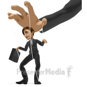 ID# 22302 - Business Man Puppet - Presentation Clipart