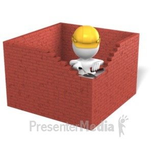 ID# 22317 - Figure Building Brick Box - Presentation Clipart