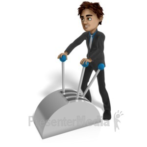 ID# 22319 - Brad Working Machine Levers - Presentation Clipart