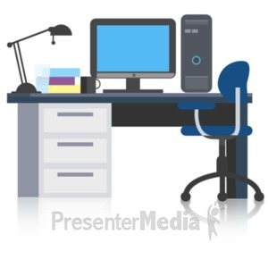 ID# 22348 - Simple Office Desk - Presentation Clipart