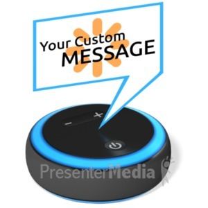 ID# 22355 - Smart Voice Device Custom - Presentation Clipart