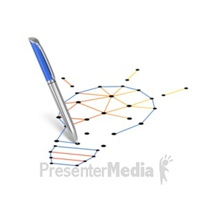 ID# 22440 - Connect The Dots Lightbulb - Presentation Clipart