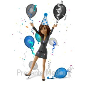 ID# 22451 - Talia Celebrate Party - Presentation Clipart