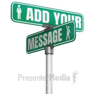 ID# 22481 - Two Way Custom Street Sign - Presentation Clipart