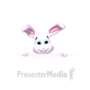 ID# 22520 - Bunny Holding Sign - Presentation Clipart