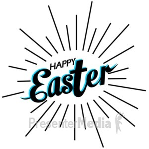 ID# 22525 - Happy Easter Shine - Presentation Clipart