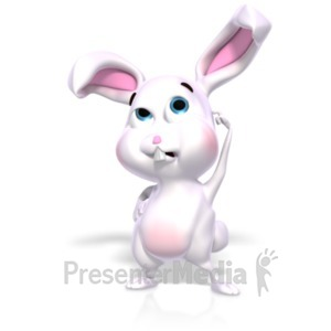 ID# 22535 - Bunny Thinking Question - Presentation Clipart