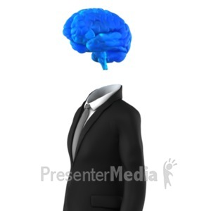 ID# 22538 - Businessman Brain - Presentation Clipart