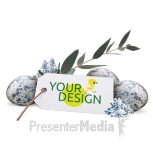 ID# 22553 - Flowers Eggs Custom - Presentation Clipart