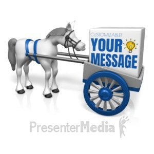 ID# 22579 - Cart Before the Horse - Presentation Clipart