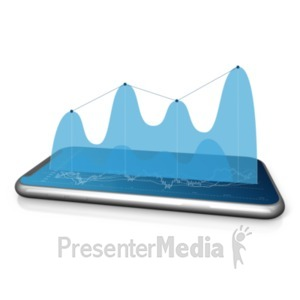 ID# 22610 - Stock Graph On Phone - Presentation Clipart