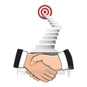 ID# 22655 - Agreement With A Goal - Presentation Clipart