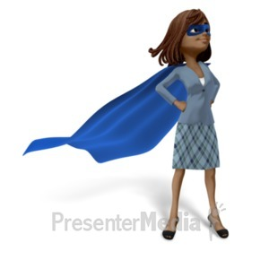 ID# 22769 - Talia Superhero Business - Presentation Clipart