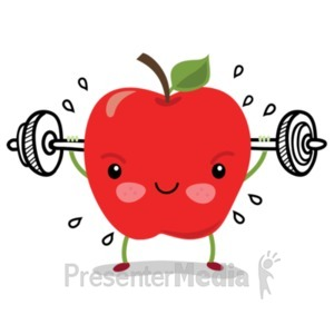 ID# 22818 - Apple Sam Workout - Presentation Clipart