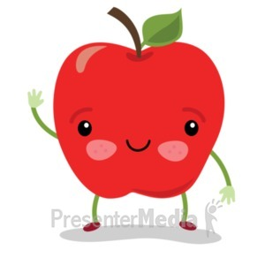 ID# 22819 - Apple Sam Wave - Presentation Clipart
