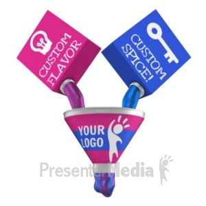 ID# 22856 - Funnel Mixing together - Presentation Clipart