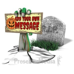 ID# 22878 - Scary Arm Grave Custom - Presentation Clipart