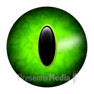 ID# 22919 - Scary Single Round Eye - Presentation Clipart