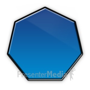 ID# 22974 - Heptagon Flow Chart Symbol - Presentation Clipart