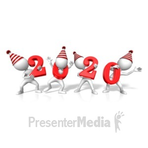 ID# 22978 - Figures Holding 2020 Year - Presentation Clipart
