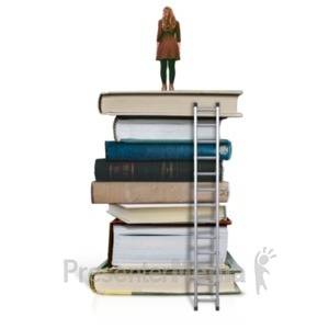 ID# 23144 - On Top Of Education - Woman - Presentation Clipart