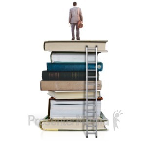 ID# 23146 - On Top Of Education - Man - Presentation Clipart