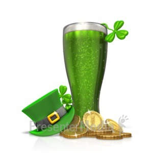 ID# 23186 - St Patricks Day Green Beer Hat - Presentation Clipart