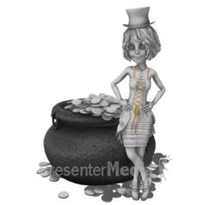 ID# 23196 - St Paddy Pot O Gold - Presentation Clipart