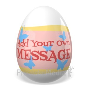 ID# 23323 - Easter Painted Egg Custom - Presentation Clipart