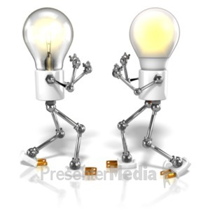 ID# 23346 - Led Vs Tungsten Figures - Presentation Clipart