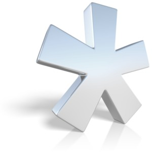 An Asterisk PowerPoint punctuation ClipArt symbol graphic