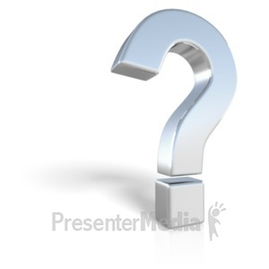 ID# 23404 - Chrome Question Mark Symbol - Presentation Clipart