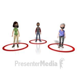 ID# 23409 - People Social Distancing - Presentation Clipart