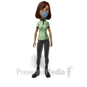 ID# 23425 - Woman Wearing Mask - Presentation Clipart
