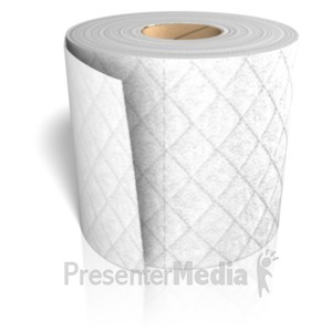 ID# 23426 - Toilet Paper Roll - Presentation Clipart